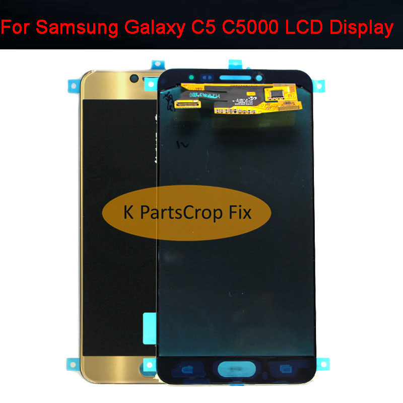 Super AMOLED For SAMSUNG GALAXY C5 C5000 LCD Display Touch Screen Digitizer Assembly Replacement For 5
