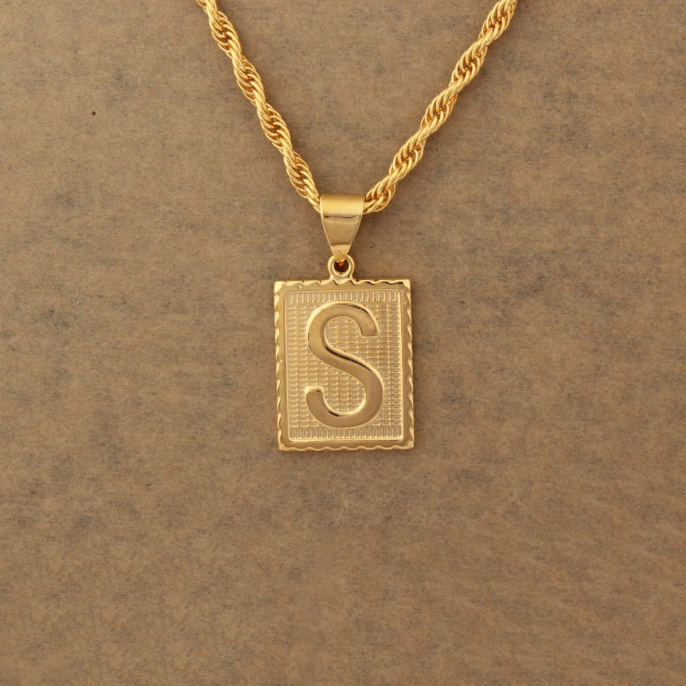 s on fashion buy new jewelry alphabet detail product letter design pendant