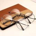 2016 Óculos Mulheres Miopia Óptico óculos de Armação Redonda De Metal Do Vintage Desgaste do Olho Gafas Oculos de Para O Sexo Masculino