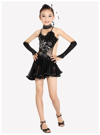 Newest Sexy Lace Sleeveless Sequin Girls Kids Ballroom Dresses font b Tango b font Salsa Latin