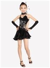 Newest Sexy Lace Sleeveless Sequin Girls Kids Ballroom Dresses / Tango Salsa Latin Dance Dress Children