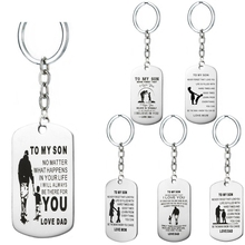OTOKY Hot Sale 1 pc Stainless Steel To My Son Keychain Military Fathers Day Family Love Gift   Mar16