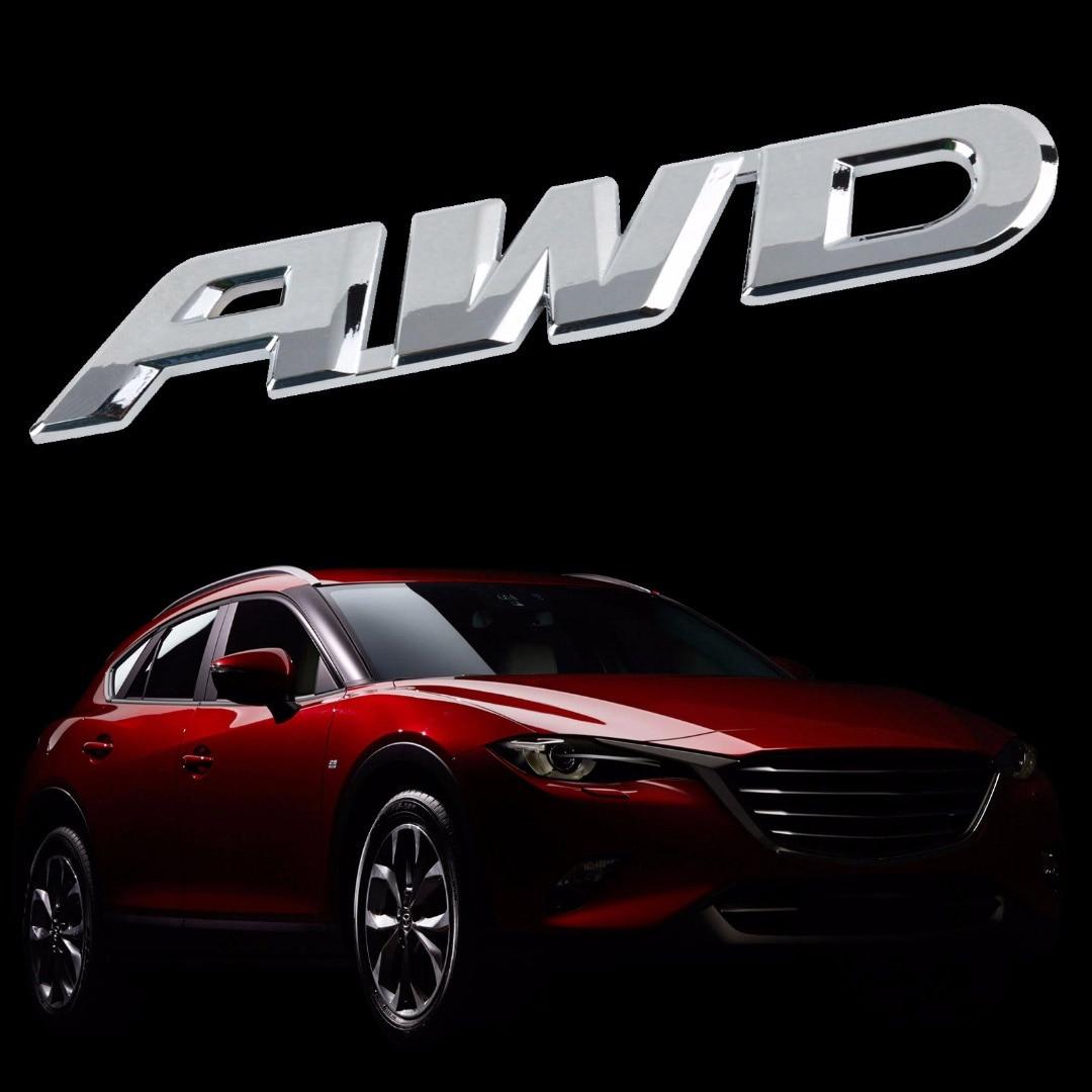 Design car emblem - Mayitr Car Styling 3d Metal Awd Logo Car Body Emblem Badge Sticker Decal L Size 15