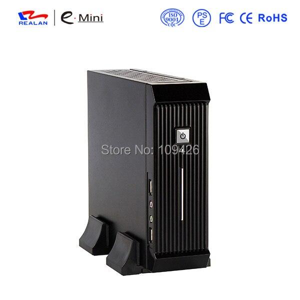 Realan Schwarz Mini ITX HTPC PC Fall E 3016 mit Netzteil Fan