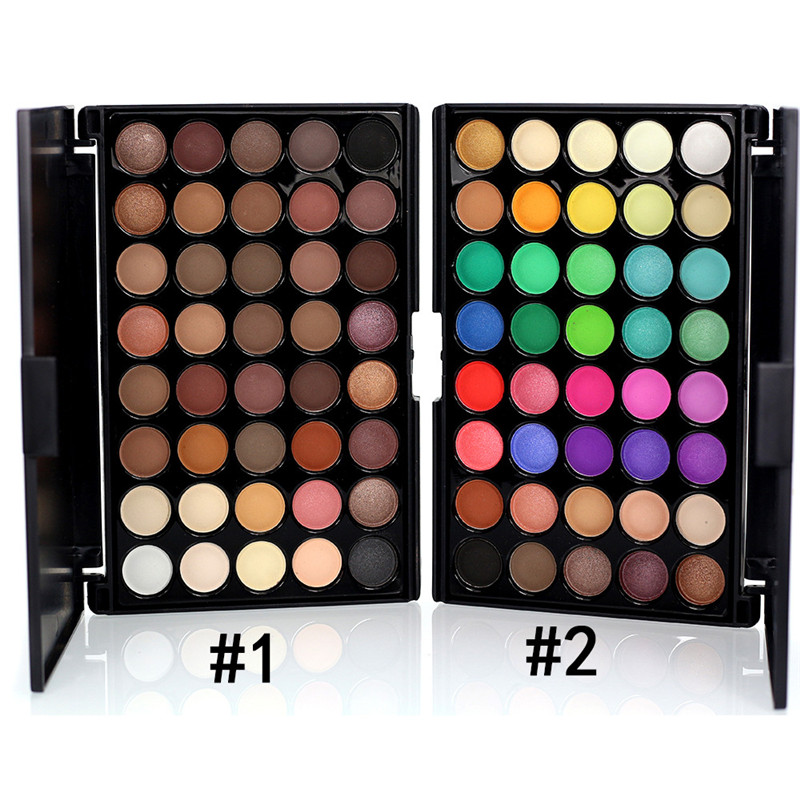 Popfeel 40 Color Shimmer Glitter Eye Shadow Palette Waterproof Cosmetic Profissional Matte Eyeshadow Cream Makeup Palette Gift