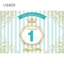 Laeacco Happy Birthday Our little Princess Golden Border Scene Photography Background Photographic Backdrop For Photo Studio