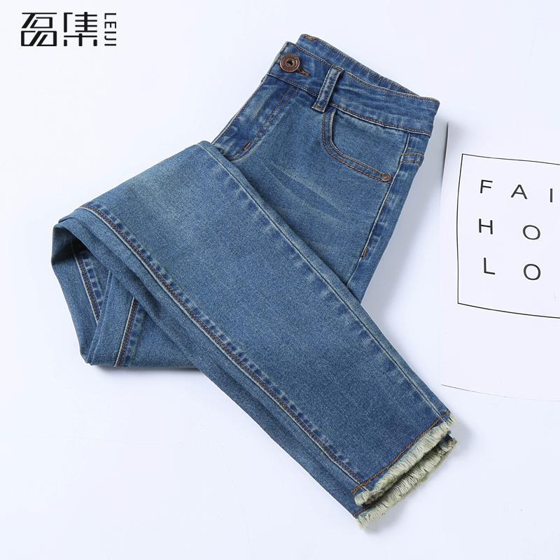 Jeans   Woman High Waist New Arrival Soft Plus Size ankle Length vintage blue slim Female Skinny Pencil Denim Pants