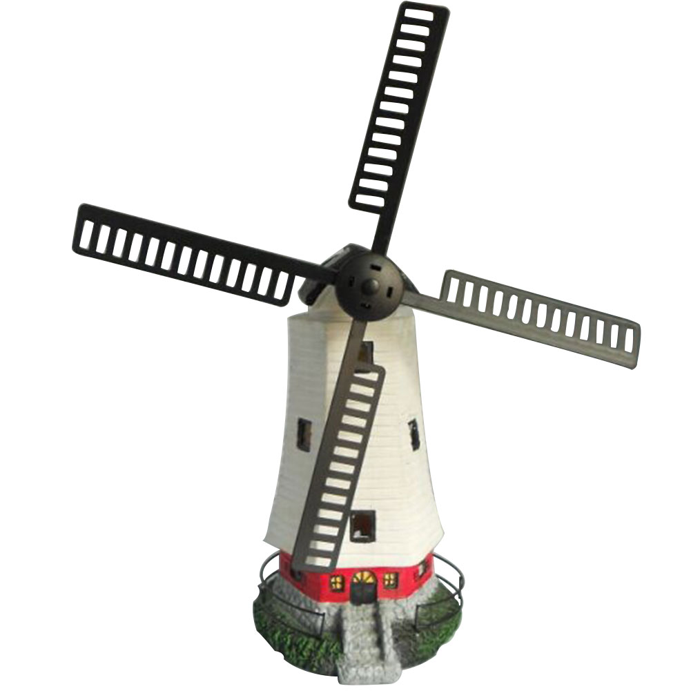 Outdoor Energy Saving Home Night Rotate Fan Garden Ornament Solar Lights Desk Led Windmill Decoration Waterproof Gifts Office