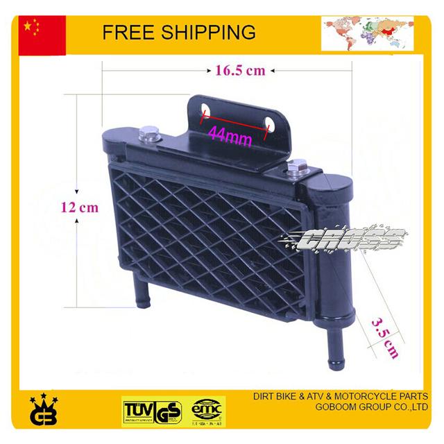 Acessórios da motocicleta Modificados 150cc 200cc zongshen loncin lifan shiberay acessórios modificado radiador de óleo do radiador frete grátis