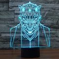 Star Wars Jedi Knight 3D Night Light Touch Switch Acrylic 7 Colour Gradient Novelty Lighting Table lamp Home Decor 7colors