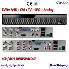 1080 P AHD Híbrido DVR 8CH para H M CVI TVI AHD cámara H.264 4 Canales DVR grabador P2P IP NVR de ONVIF 2MP 2.4 Red IP cámara