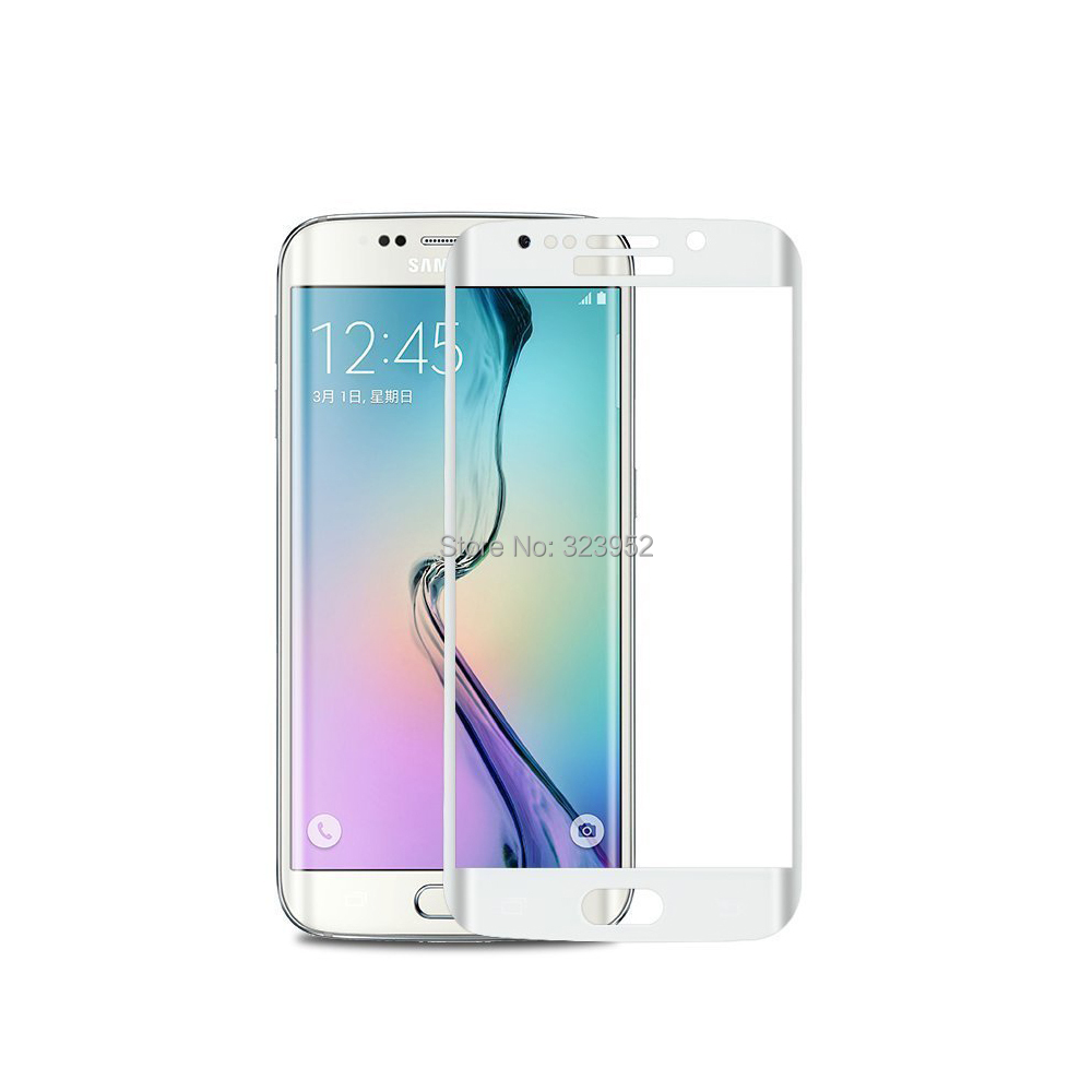 <font><b>High</b></font> <font><b>quality</b></font> For Samsung Galaxy S6 edge plus <font><b>Curved</b></font> glass film 3D <font><b>Full</b></font> <font><b>coverage</b></font> <font><b>Tempered</b></font> Glass Screen Protector film 50pcs/lot