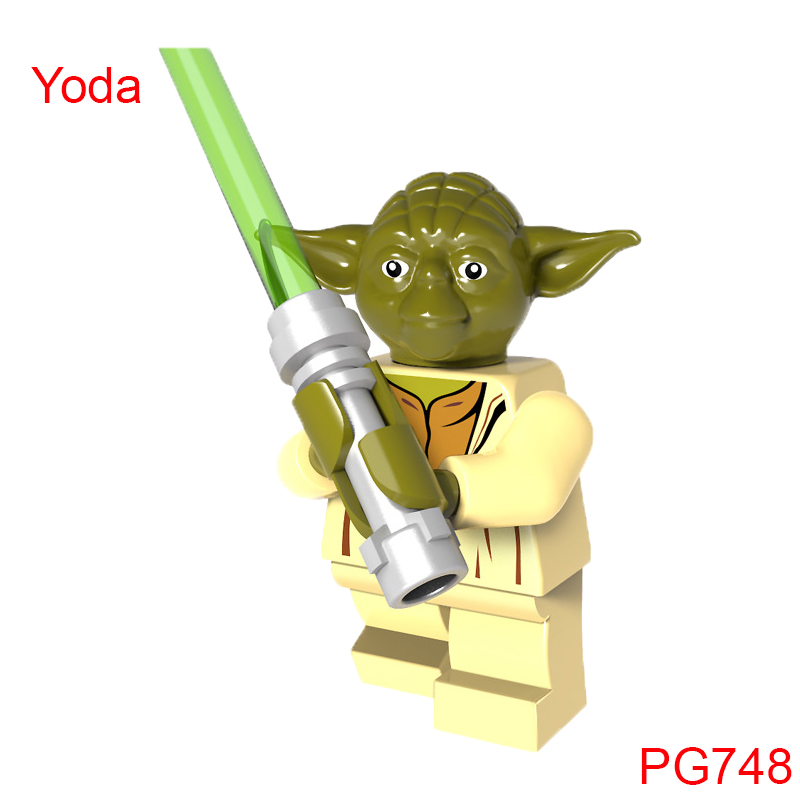 Pg748 2018 Variant Yoda With Green Lightsaber Star Wars The Force Awaken Building Blocks Children Gifts Toys For Children Pg8071