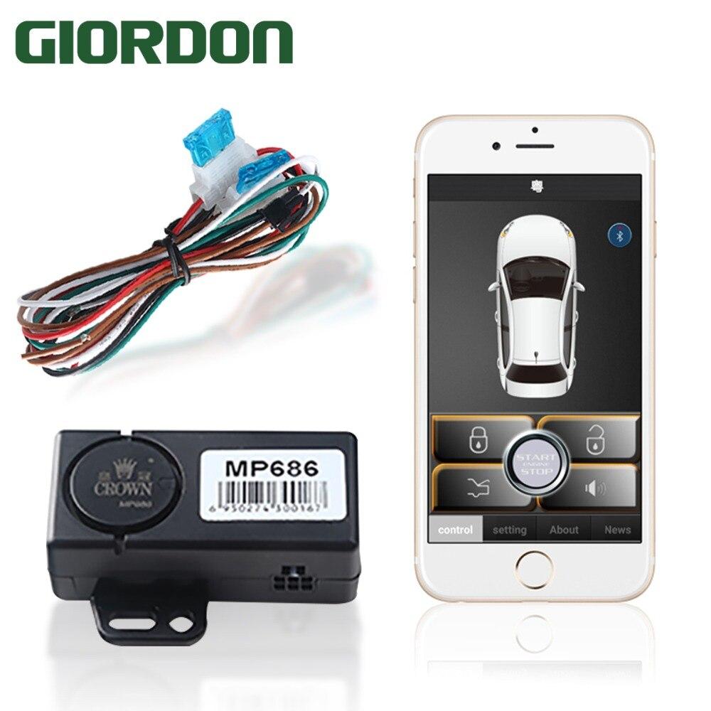 Carro de controle de sensor de telefone inteligente (aplicativo de uso) abordagens do carro para desbloquear, deixa o bloqueio e saídas do chifre original