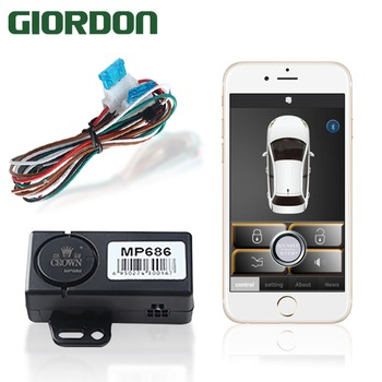 Kontrola czujnika inteligentnego telefonu samochód (użyj aplikacji) zbliża się do samochodu, aby odblokować, pozostawia zamek i wyprowadza oryginalny klakson