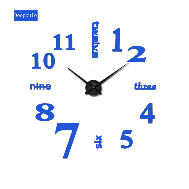 2020 new sale wall clock clocks reloj de pared watch 3d diy Acrylic mirror Stickers Quartz Modern Home Decoration free shipping