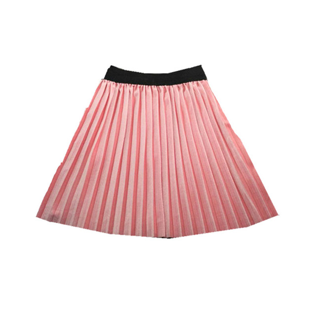 ecbb3174b6202b Nieuwe fluwelen plooirok knie lange meisjes rok zomer winter casual glad rok  meisje tutu hoge taille