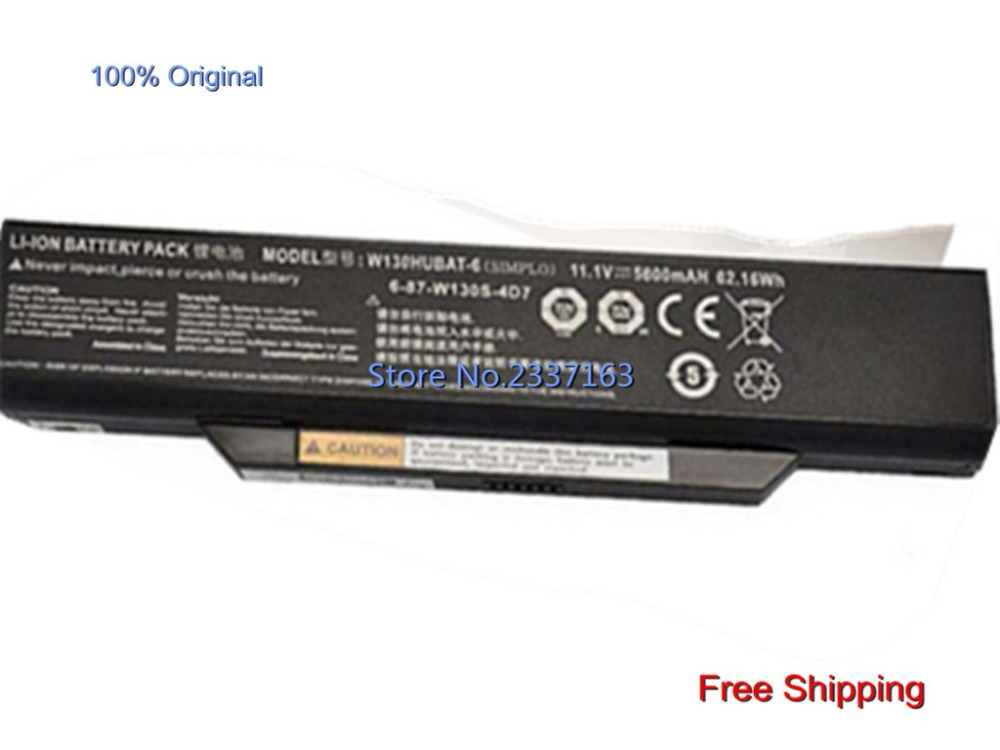 IECWANX 100% new Laptop Battery W130HUBAT-6 ( 11.1V 62.16mAh 5600mAh) for CLEVO W255CEW W130HUBAT-6 6-87-W130S-4D7