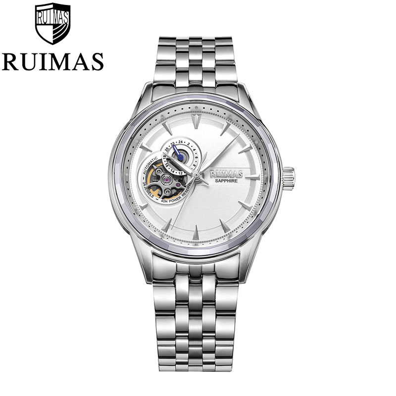 RUIMAS  Hollow Full-Steel Mechanical Watch Men Wrist Automatic Watch Top Luxury Brand Sapphire WaterproofRUIMAS  Hollow Full-Steel Mechanical Watch Men Wrist Automatic Watch Top Luxury Brand Sapphire Waterproof