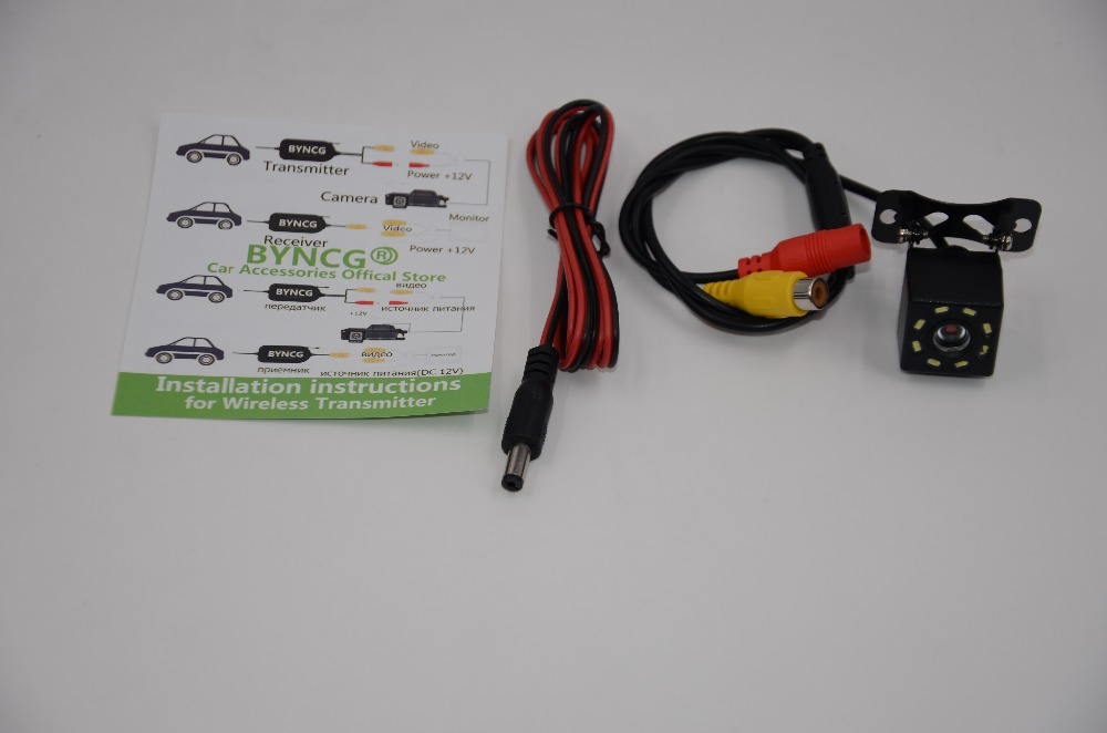 BYNCG, 8 светодиодный, ночное видение, Автомобильная камера заднего вида, широкий угол, HD цветное изображение, водонепроницаемая, универсальная, резервная, обратная, парковочная камера