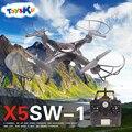 X5sw-1 wifi rc drone quadcopter con fpv cámara sin cabeza rc helicóptero quad copter toys wifi de transmisión de imágenes en tiempo real