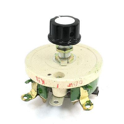 50W 1K Ohm Ceramic Wirewound Potentiometer Volume Control Disk Rheostat