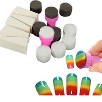 New Fashion Style 1 Set Nail Art Sponge Stamp Stamper Shade Transfer Template Polish Manicure Tools Drop Shopping