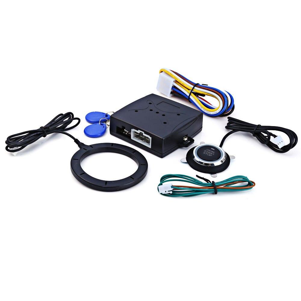 Universal Motor de coche alarma pulsador RFID arranque sin llave Tpms entrada Start Stop inmovilizador