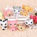Новый стиль 7 шт./компл. LPS littlest pet shop куклы украшения головка может двигаться пластиковые куклы украшения подарок на день рождения