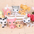 New style 7pcs/set  LPS littlest pet shop doll ornaments head can move doll plastic ornaments birthday gift