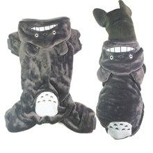 PetRadise Halloween Dog Costume Totoro Cosplay Dog Clothes Medium Large Size Dog Coat Winter