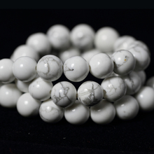 Natural Stone Beads White Howlite Turquesa Round Loose Beads For Jewelry Making 15.5″/strand Pick Size 4 6 8 10mm