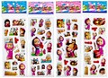 10PCS/lot 3D carton bubble sticker of masha and the bear puffy stickers for kids birthday present