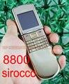 Abierto original nokia 8800 sirocco mobile del teléfono celular gsm de triple banda bluetooth cámara 8800d teclado ruso