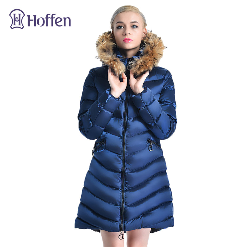 Hoffen 2017 Winter Coat Women Long Thick Slim Down Cotton Parka Fur Collar Hooded Warm Outerwear chaqueta mujer Plus Size 3XL 2017 women winter coat fur collar hooded long sleeve jackets slim thick winter jacket woman s down cotton parka plus size qh0242