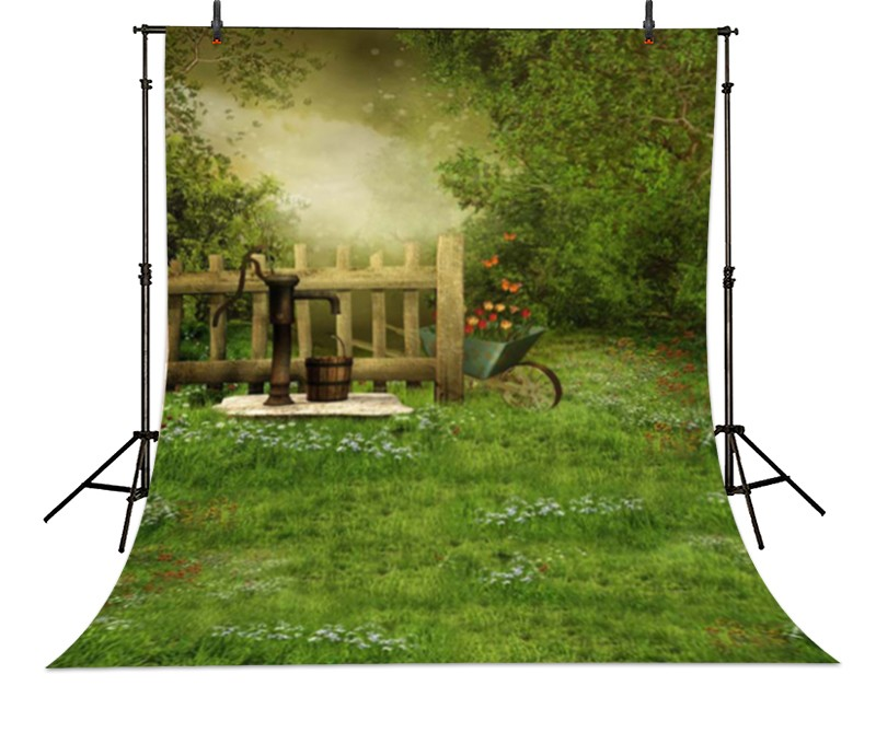 Magic Jungle Flowers Country Garden Backgrounds Vinyl cloth Computer printed children backdrop guess printed hard guhcp6juf jungle