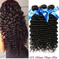Produtos de Cabelo Encaracolado profundo Indiano Virgem Do Cabelo Onda Profunda 3 feixes de mola queen cabelo virgem indiano encaracolado tissage kinky curly cabelo