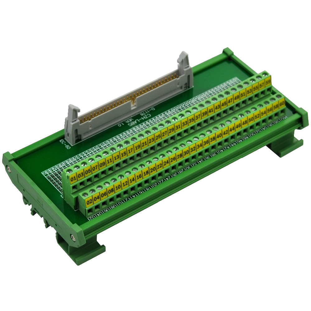CZH-LABS DIN Rail Mount IDC-60 Male Header Connector Breakout Board Interface Module, IDC Pitch 0.1, Terminal Block Pitch 0.2 сказки зарубежных писателей сказки народов мира комплект из 2 книг
