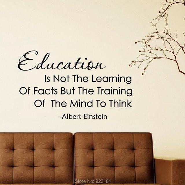 Online Shop Albert Einstein Education Is Not The Learning Wall Art ...