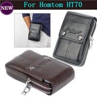 Homens Bolsa De Couro Genuíno 6.0 polegadas Tático Pacote de Cintura Bolsa de Telefone Celular para Homtom HT70 Frete Grátis|phone pouch|waist phone pouch|phone bag -