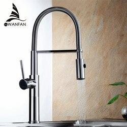 Küche Wasserhahn Neu Design 360 Swivel Massivem Messing Einzigen Griff Mischer Waschbecken Wasserhahn Chrome Warmen und Kalten Wasser Torneira LD-10127