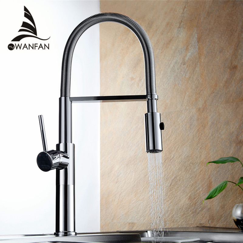 Kitchen Faucet Newly Design 360 Swivel Solid Brass Single Handle Mixer Sink Tap Chrome Hot and Cold Water Torneira LD-10127 360 swivel solid brass spring kitchen faucet sink mixer tap swivel spout mixer tap hot and cold water torneira page 1