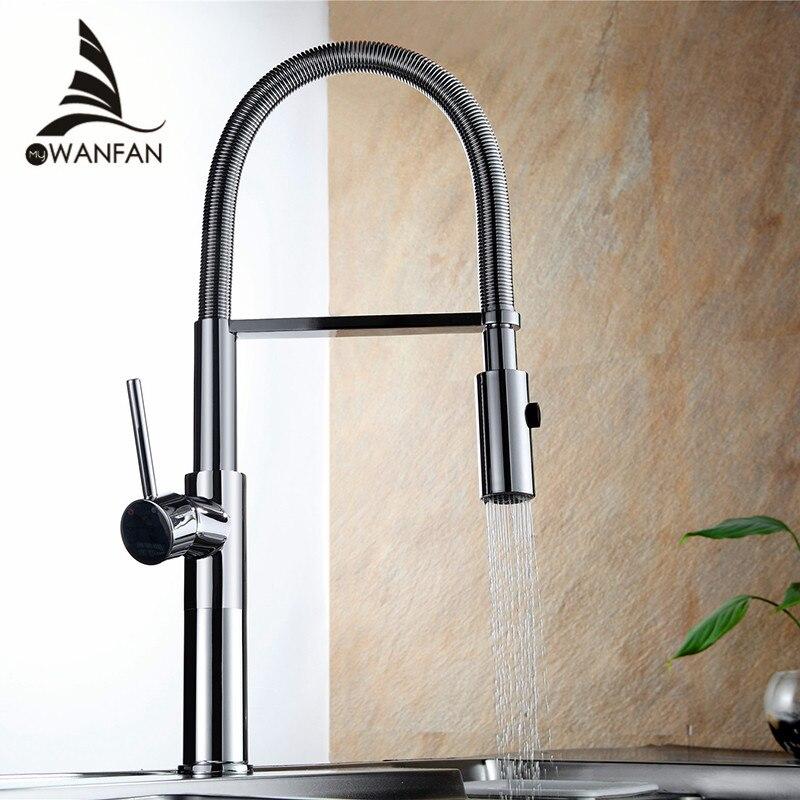 Robinet de cuisine nouvellement Design 360 pivotant en laiton massif mitigeur évier robinet Chrome eau chaude et froide Torneira LD-10127