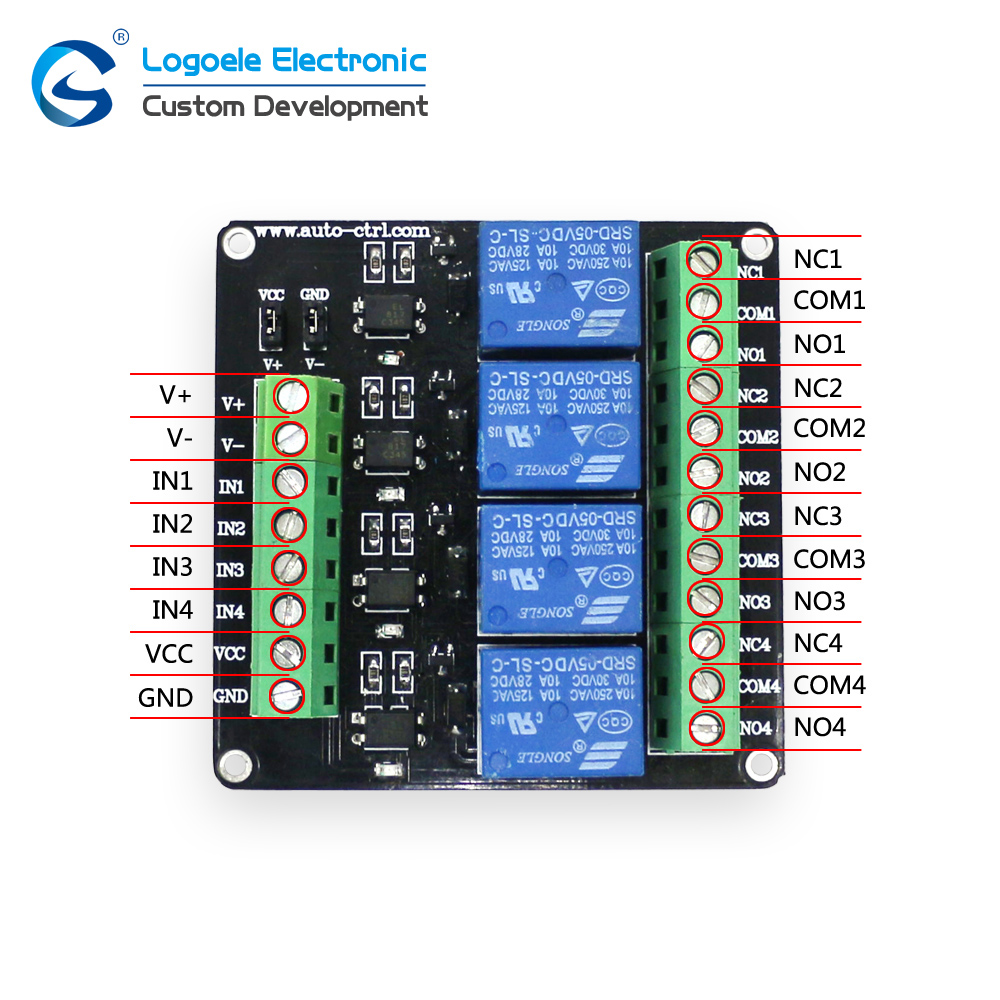 3V 4-Channel Relay Module Expansion Board Control Board