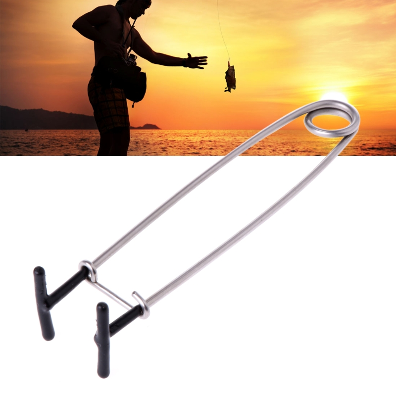 Fishing Decoupling Device Fish Mouth Opener Stainless Steel Fish Mouth Spreader For Fresh Saltwater Fishing Tackle Tool 17cm