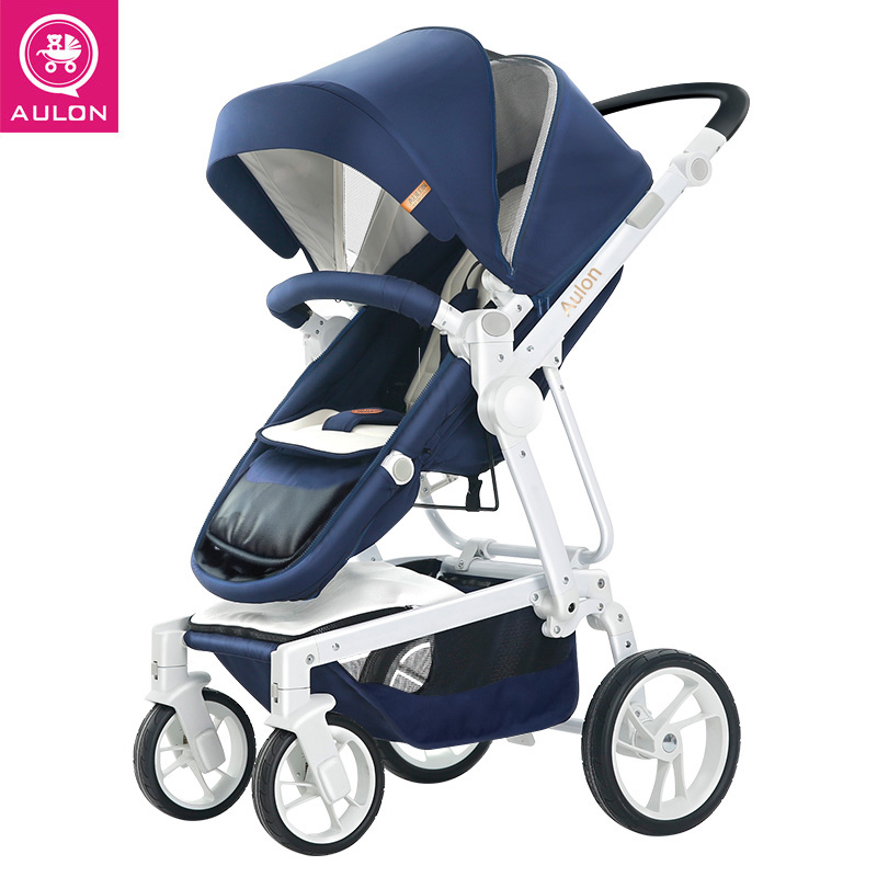 AULON Brand Baby Stroller 2 in 1 Fold Portable Traveling Baby Cart Carriage Buggy  folding Stroller Baby Pram high landscape mige stroller baby trolley cart folding baby carriage baby cart can be lying on the baby cart portable cart pram with 3 gift