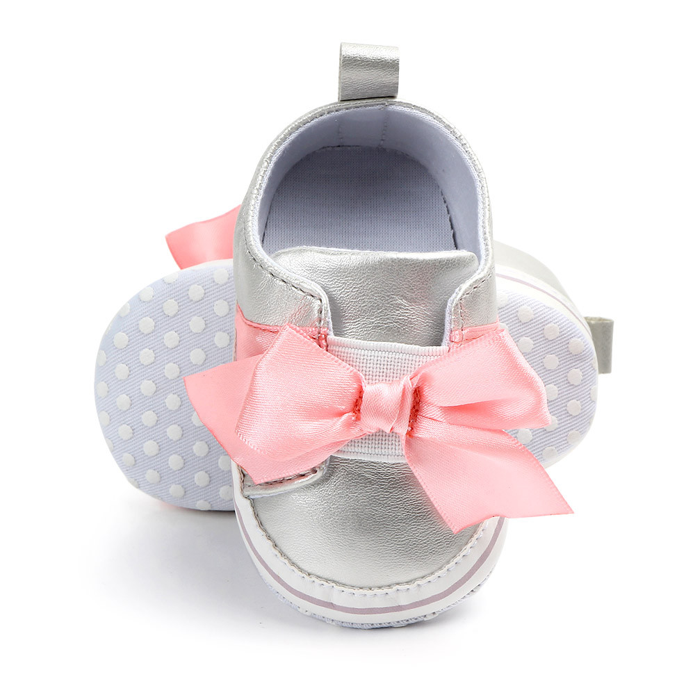 MUQGEW Toddler Shoes First-Walker Girls Infant Baby Casual Bow Cute PU 0-15M