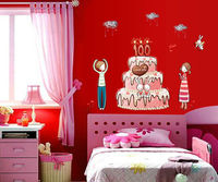 Celebration New Arrival DIY Anniversary Cake Decal Waterproof Vinyl Quote ART Wall Sticker Mural Decor Free