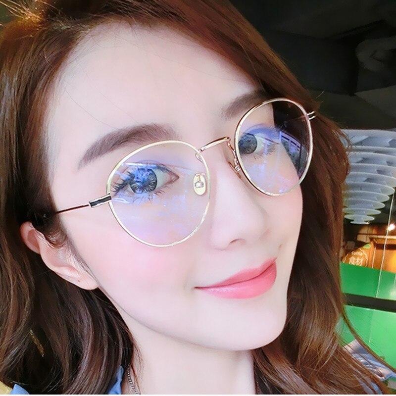 T4047B Retro glasses literature fashion circular Plain glasses for women Vintage Clear Lens Glasses For reading