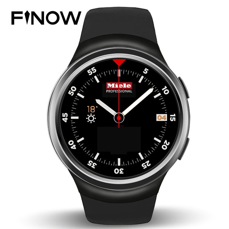 New Finow X3 Smart Watch 3G Bluetooth Android Watch Support Heart Rate GPS play store for android & IOS phone finow x3 plus k9 bluetooth smart watch android 5 1 mtk6580 quad core 1gb 8gb heart rate monitor clock for ios android pk no 1 d5